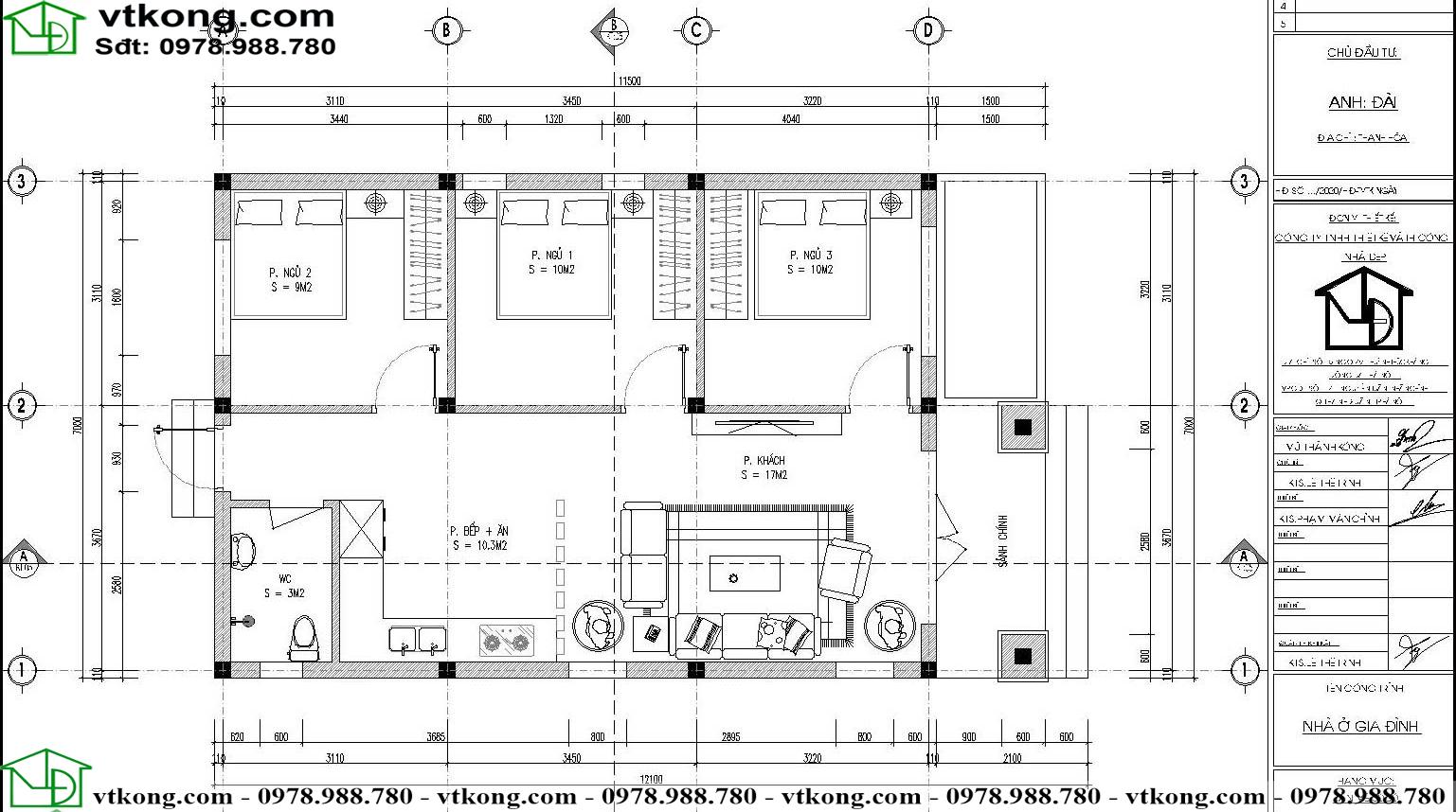 Nhà Cấp 4 Hiện đại Mái Thái 7x12m Tại Thanh Hóa Nc4