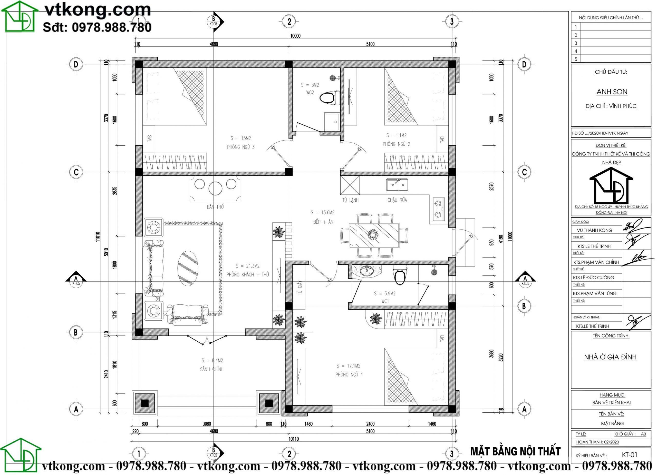 Nhà Cấp 4 3 Phòng Ngủ 10x11m Tại Thái Bình Nc498
