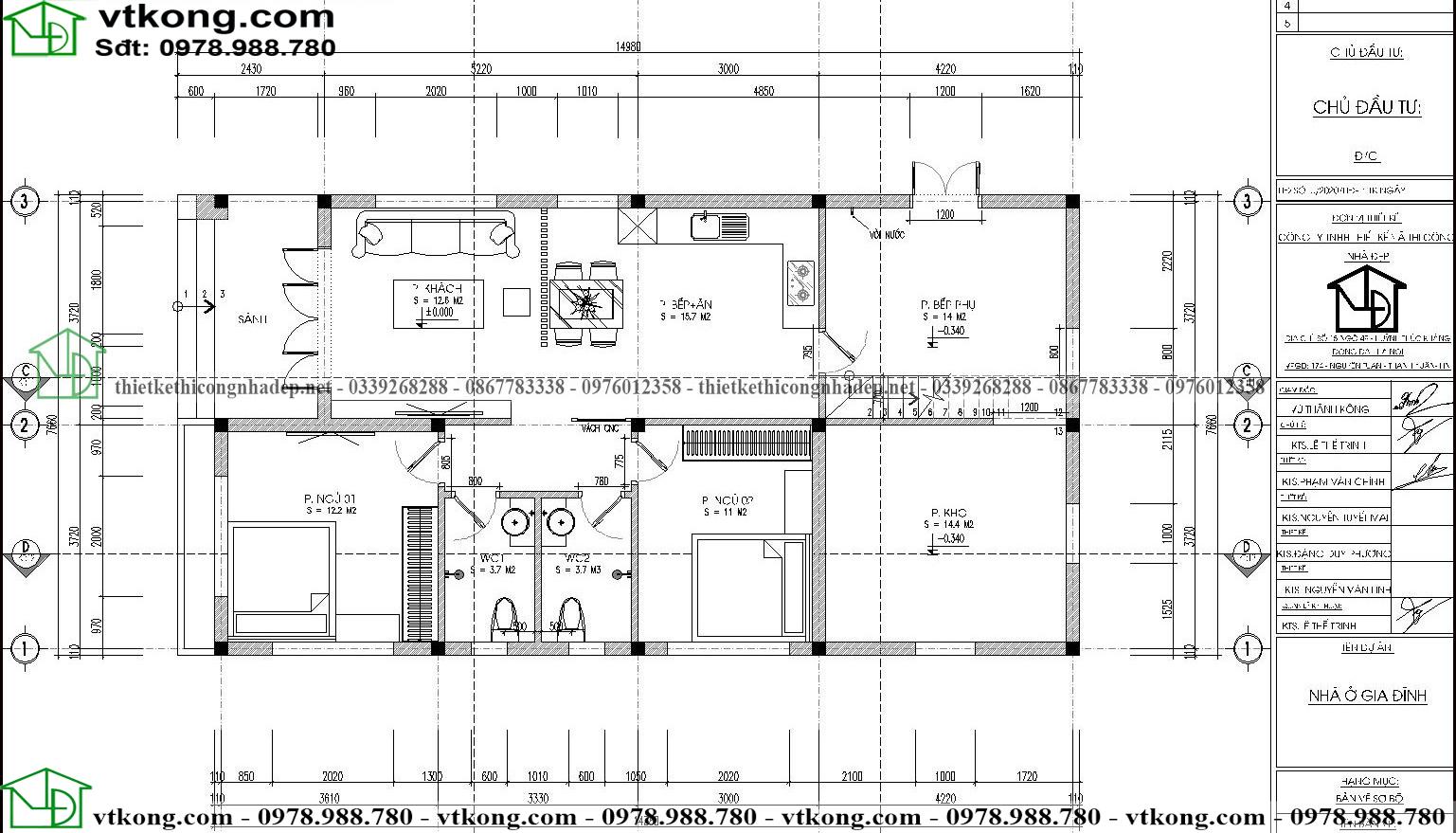 Nhà Cấp 4 Mái Thái 8x15m Tại Hải Dương Nc4116