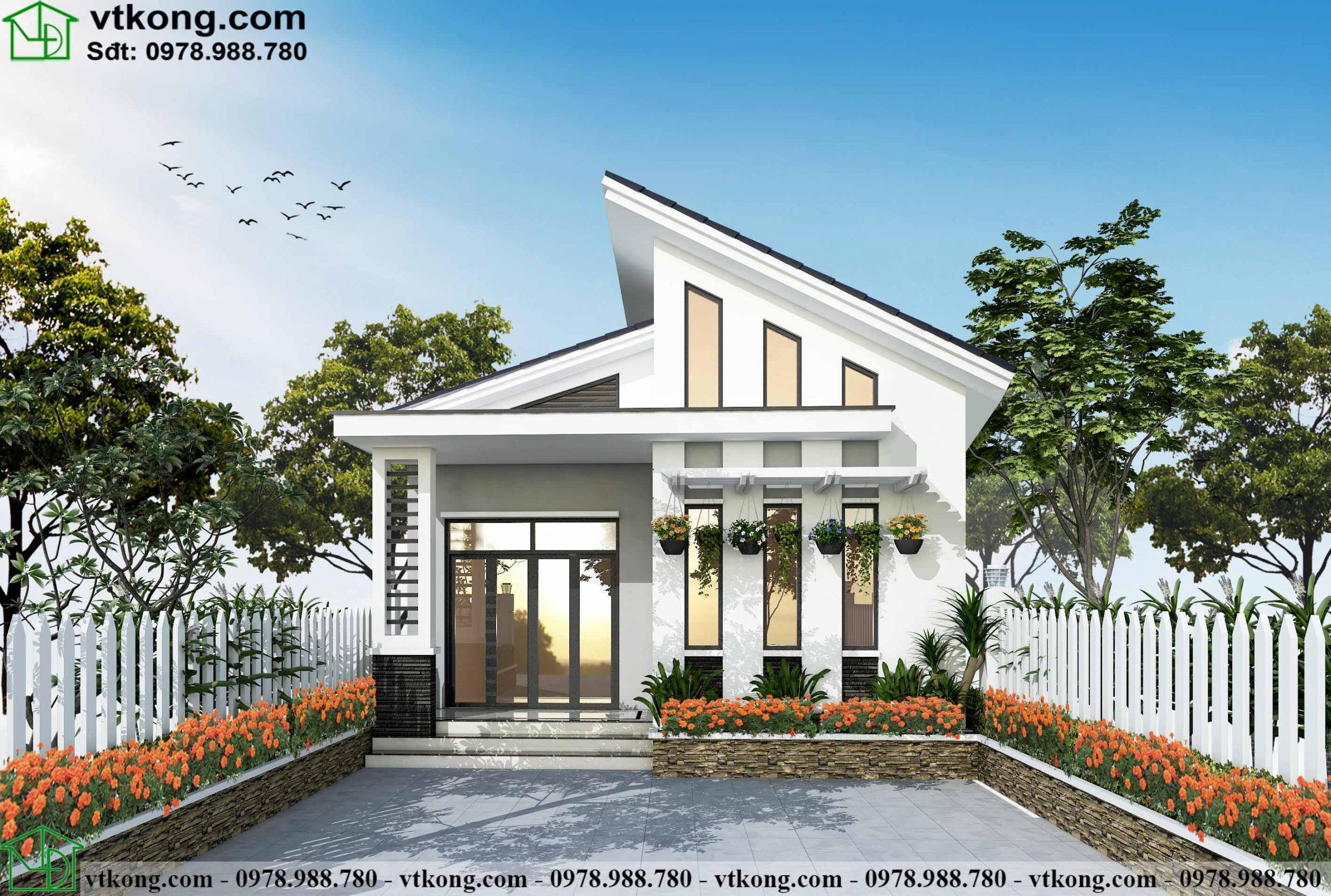 Nhà Cấp 4 Mái Lệch 3 Phòng Ngủ 7x13m Tại Vĩnh Phúc