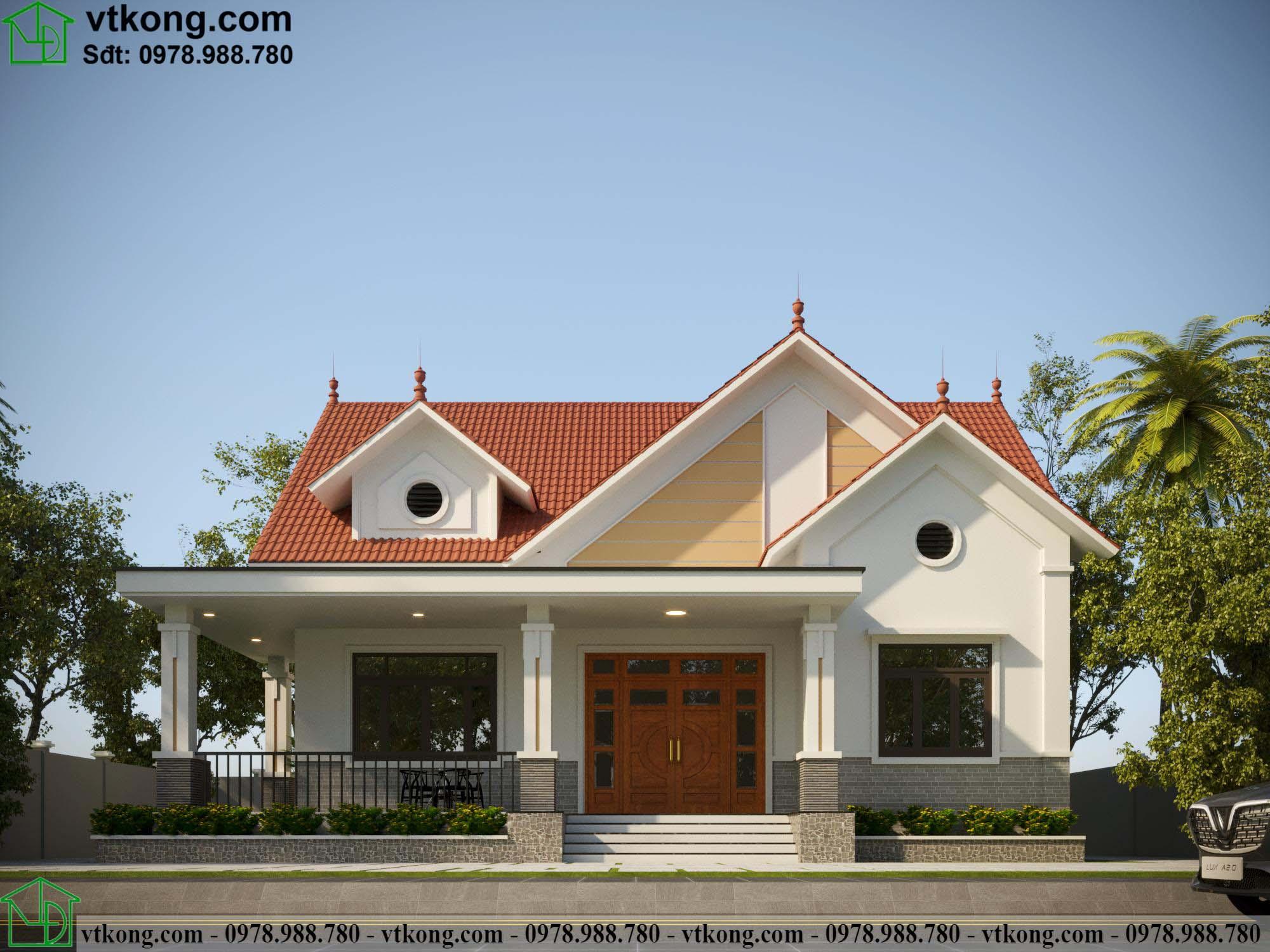 Nhà cấp 4 mái thái 14x12m tại Lạng Sơn NC497