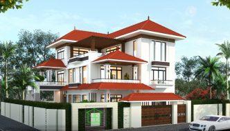 Thiết kế biệt thự 3 tầng đẹp hiện đại 15x15m BT3T008
