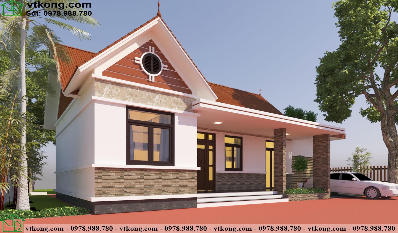 Mẫu Nhà Ngang Cấp 4 12x8m Tại Quảng Ninh Nc4126