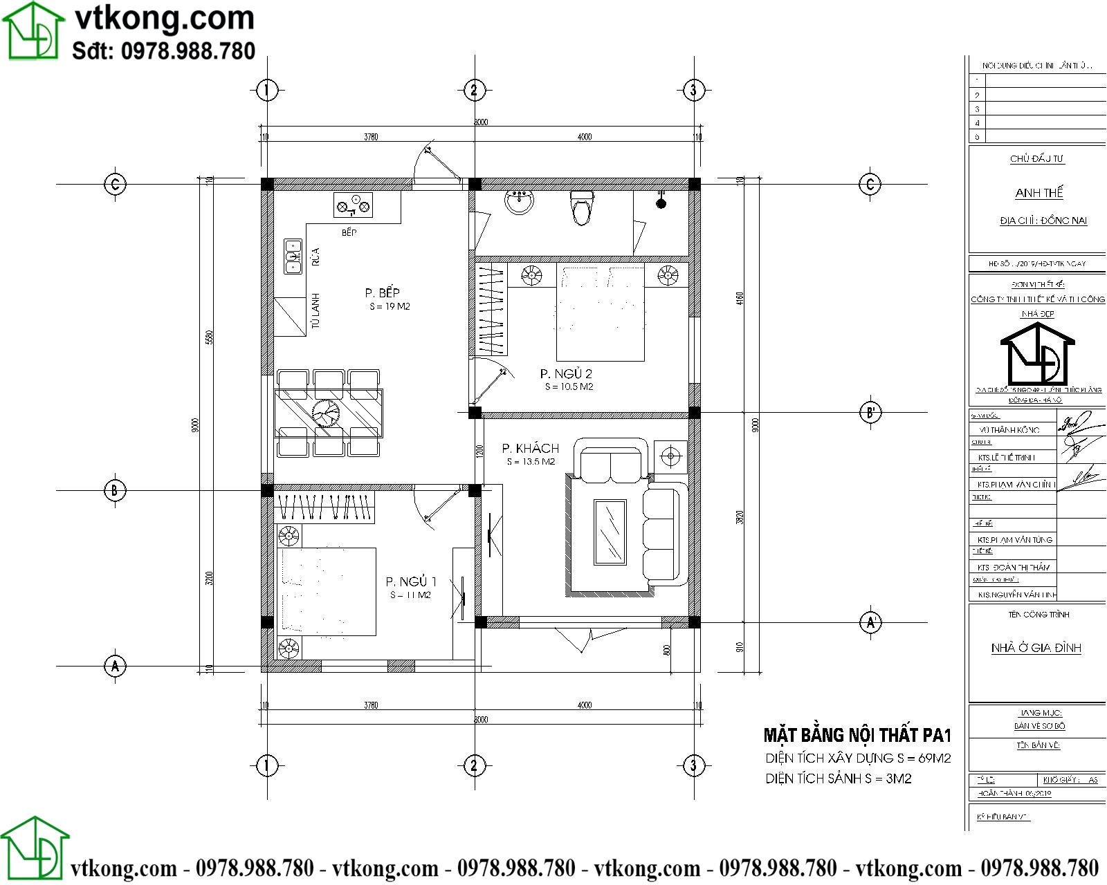 Nhà Cấp 4 Mái Nhật 8x9m Tại Long An Nc4122