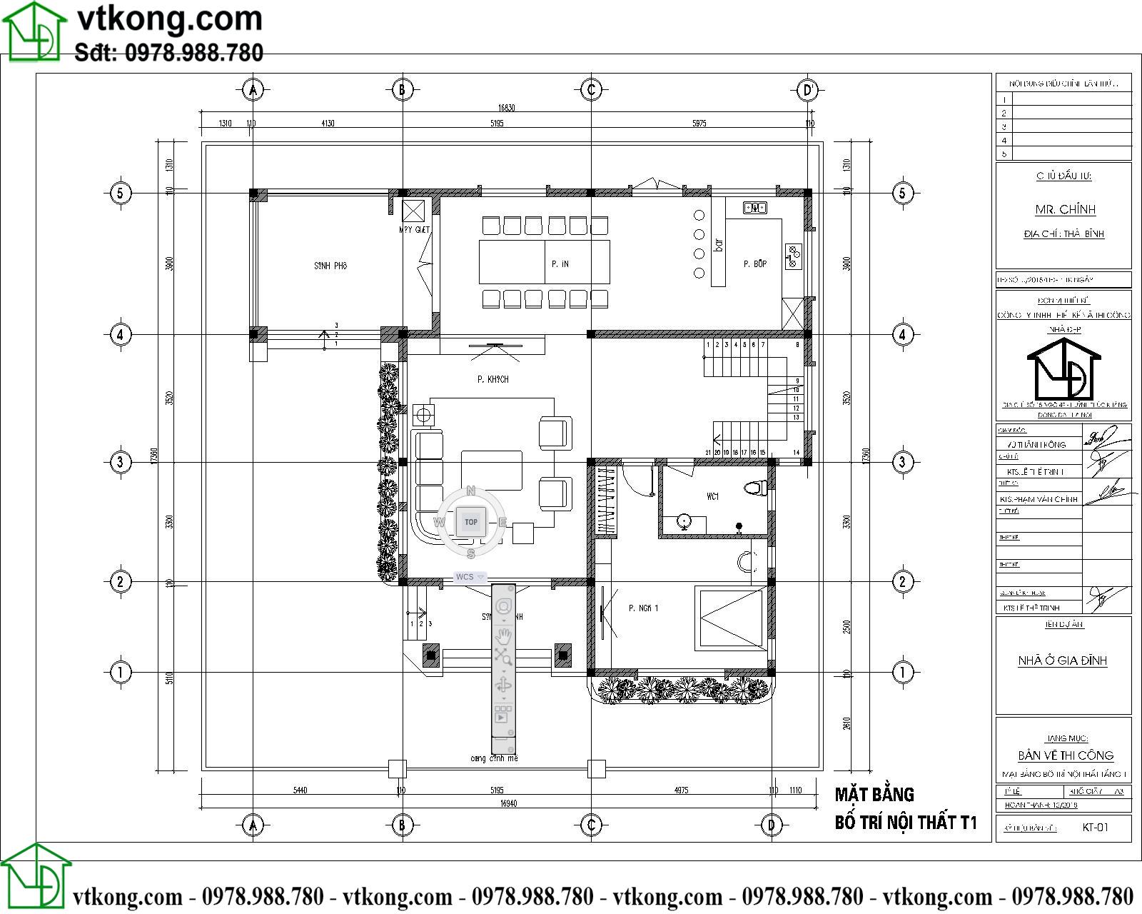 Thiết kế biệt thự 3 tầng đẹp hiện đại 15x15m BT3T008 3