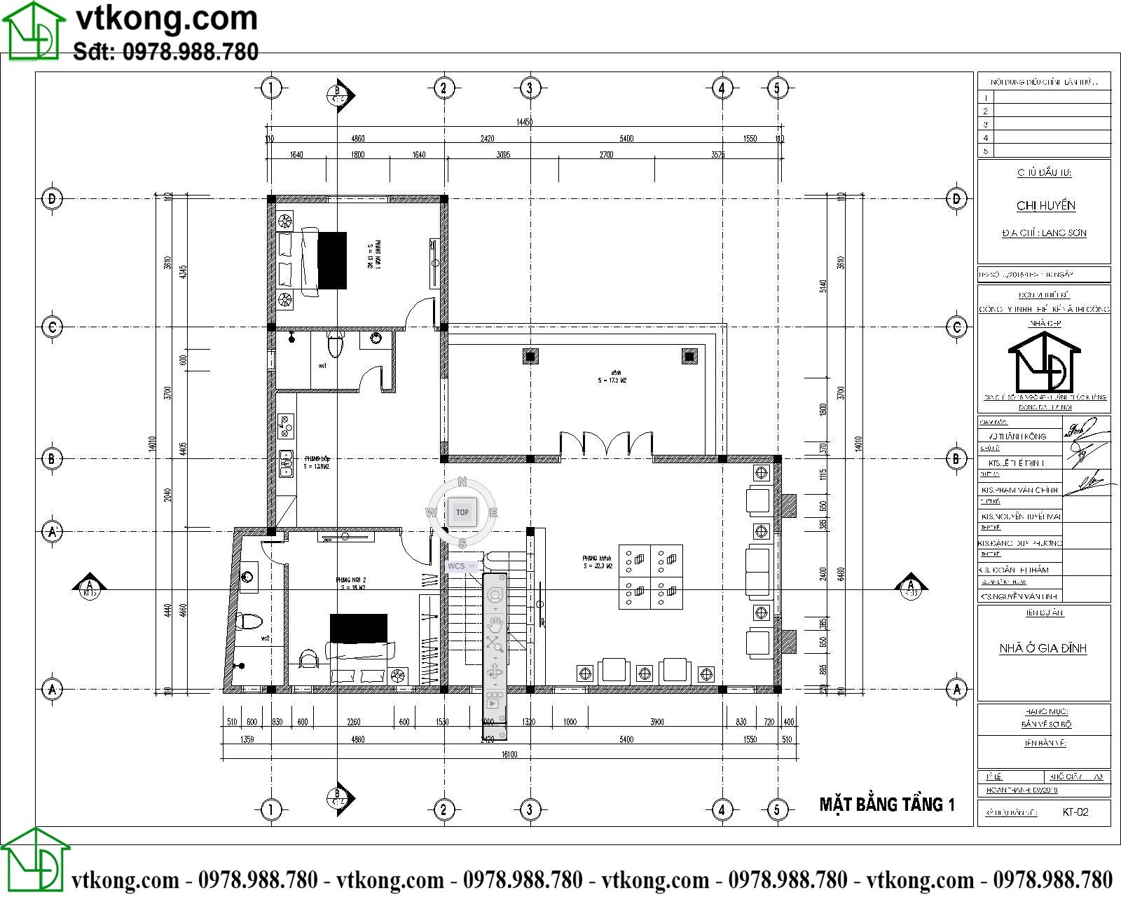 Mẫu thiết kế biệt thự 2 tầng chữ L 14x16m đẹp BT2T61 3