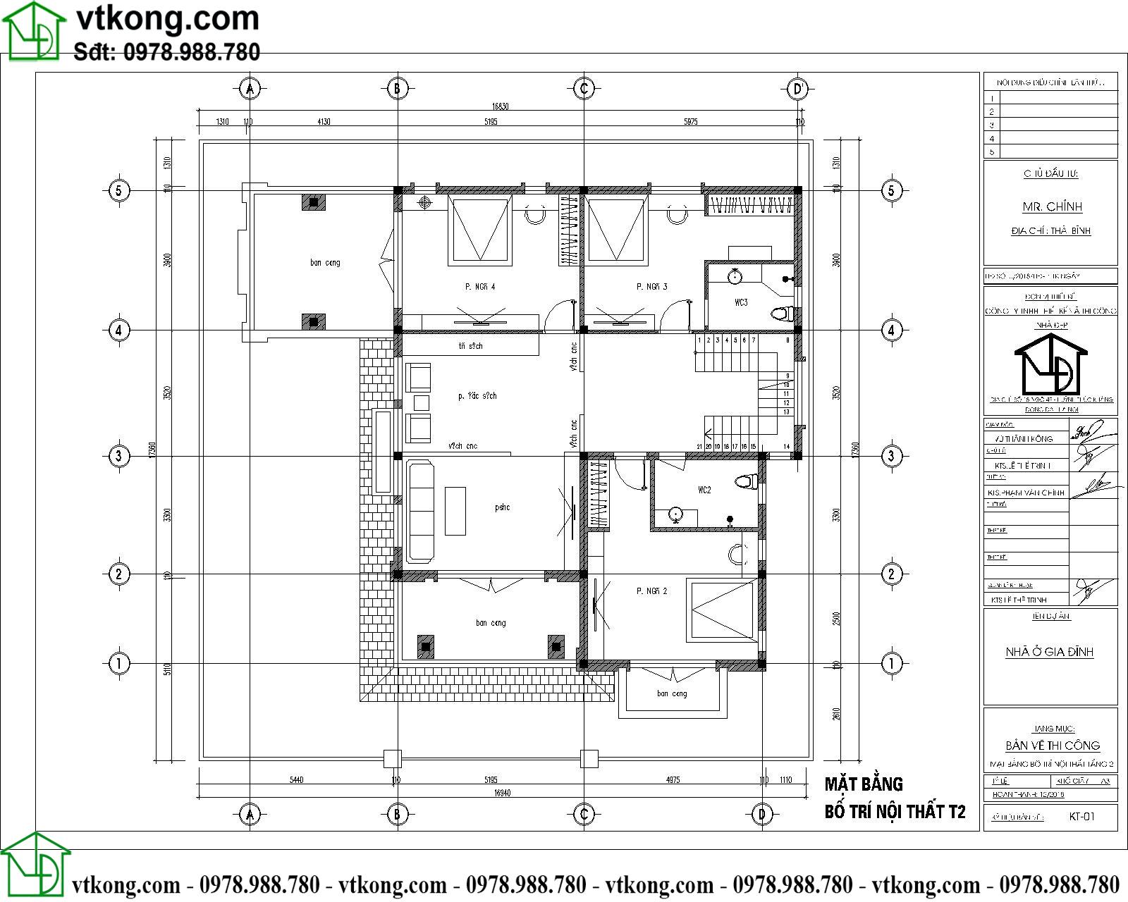 Thiết kế biệt thự 3 tầng đẹp hiện đại 15x15m BT3T008 4