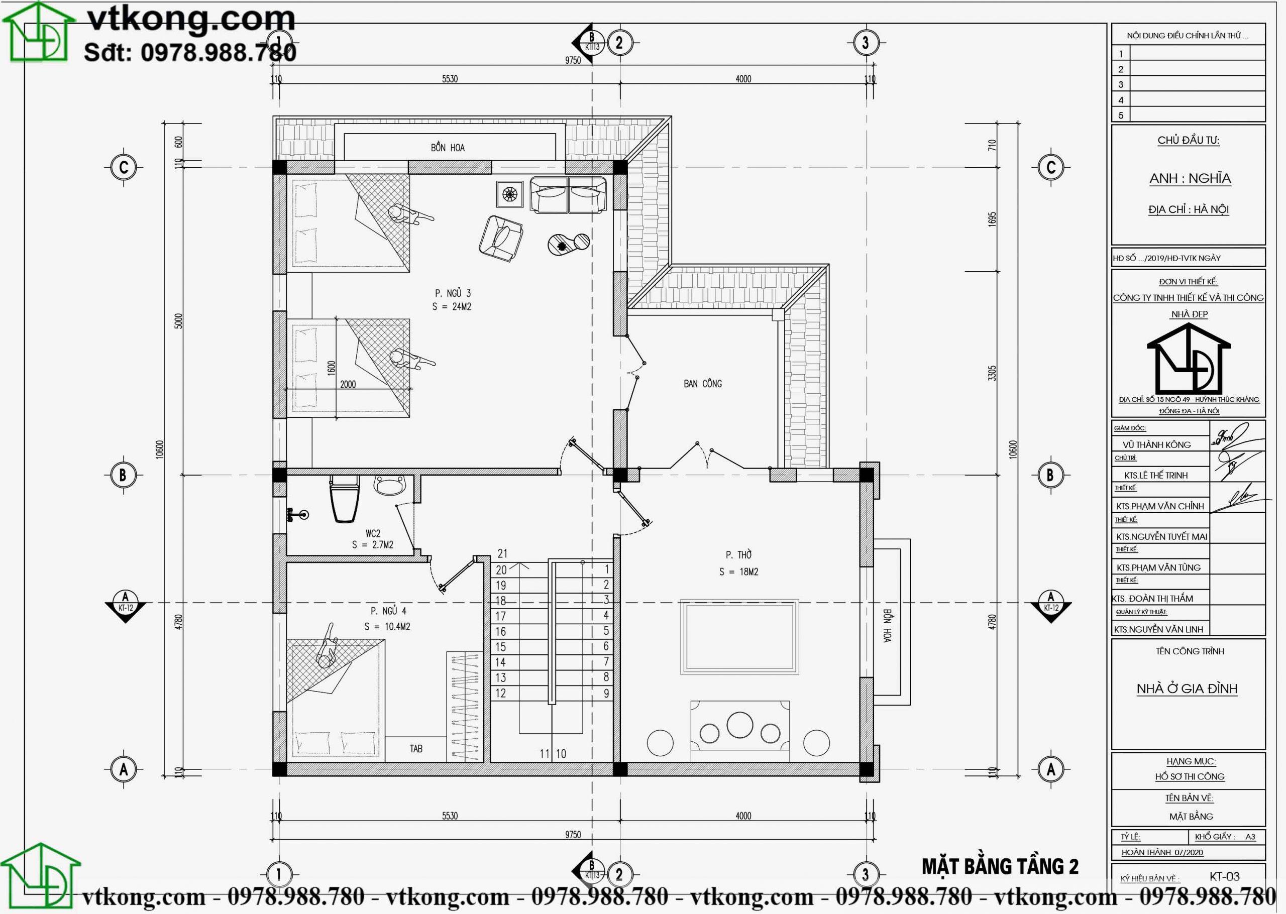 Mẫu biệt thự 2 tầng chữ L diện tích 10x11m đẹp BT2T62 4