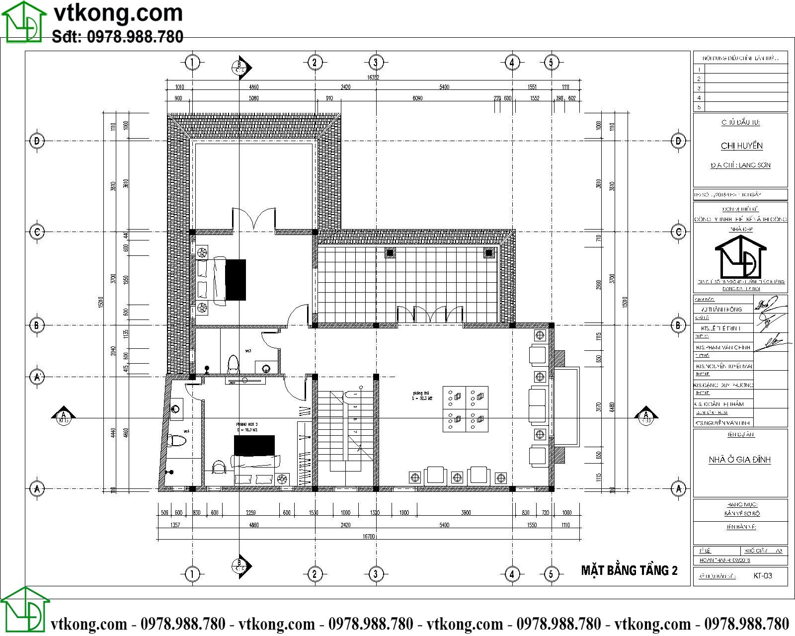Mẫu thiết kế biệt thự 2 tầng chữ L 14x16m đẹp BT2T61 4