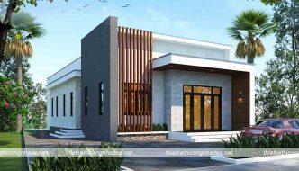 Nhà cấp 4 mái bằng 4 phòng ngủ 9x18m tại Hà Giang NC4115