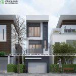 Mẫu thiết kế nhà phố 3 tầng hiện đại 4 phòng ngủ 4x12m NP3T018