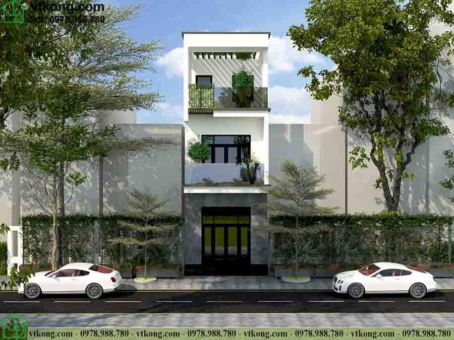 Mẫu nhà phố đẹp 3 tầng 4x16m