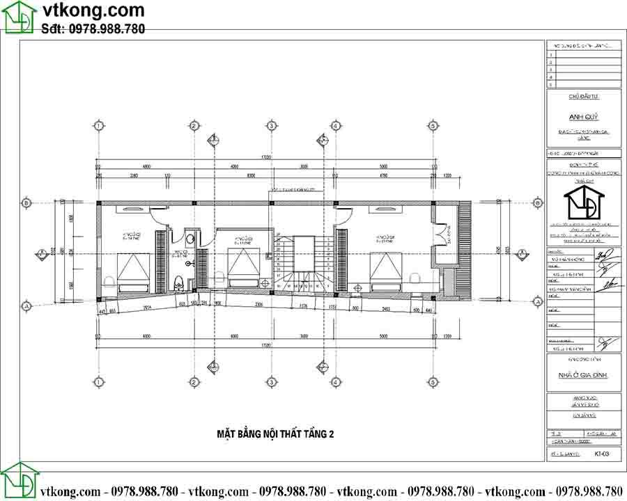 Công năng sử dụng tầng 2 mẫu nhà ống 3 tầng hiện đại NP3T024