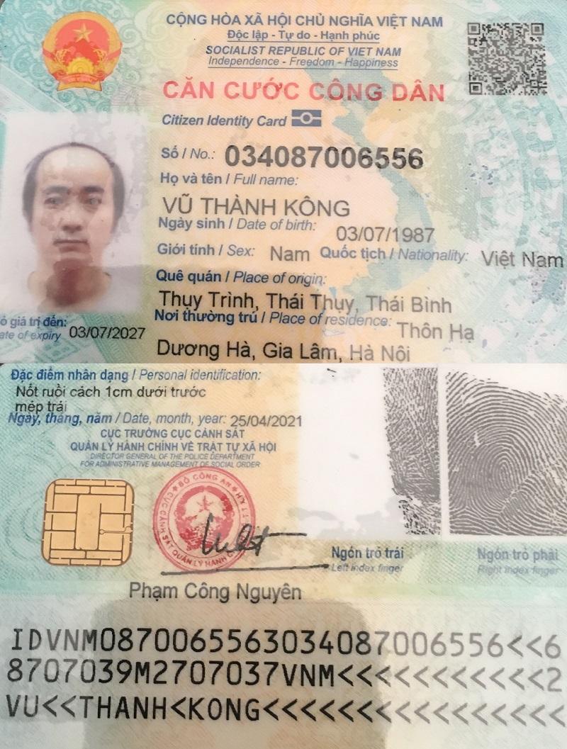 Căn cước công dân của vtkong