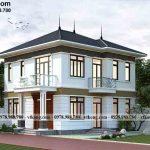 Mẫu biệt thự 2 tầng mái nhật 9x9m tại Điện Biên BT2T70