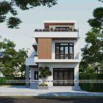 Biệt thự phố 3 tầng 9x15m mái bằng đẹp tại Lạng Sơn BT3T013