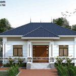 Thiết kế nhà cấp 4 mái Nhật 11x11m đẹp tại Bình Dương NC4133