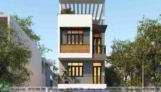 Thiết kế nhà ống 3 tầng 1 tum 5x14m hiện đại tại Nam Định NP3T028