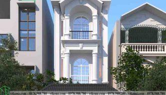 Mẫu thiết kế nhà ống 3 tầng tân cổ điển 5x20m NP3T026