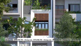 Mẫu nhà phố 3 tầng 5x20m hiện đại tại Thái Bình NP3T027