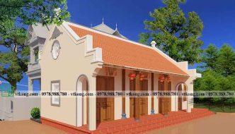 Thiết kế nhà ở kết hợp nhà thờ truyền thống tại Sóc Trăng NTH001