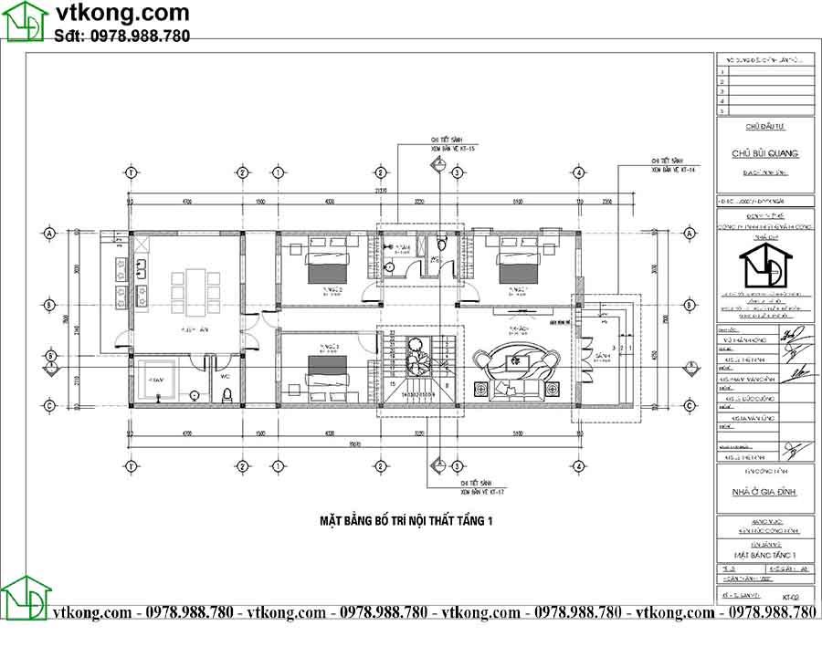 Công năng sử dụng tầng 1 mẫu biệt thự 2 tầng mái nhật BT2T67