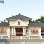 Mẫu biệt thự 1 tầng cổ điển 24x11m vạn người mê tại Quảng Ninh BT1T79