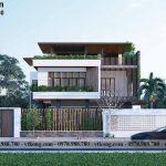 Mẫu thiết kế biệt thự 3 tầng mái bằng 15x12m đẹp tại Khánh Hòa BT3T015