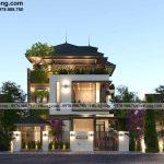 Mẫu biệt thự 3 tầng mái nhật hiện đại 11x19m tại Đà Nẵng BT3T016