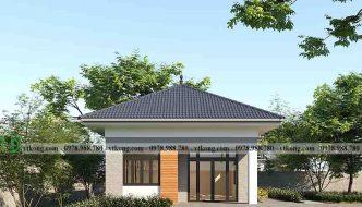 Thiết kế nhà cấp 4 mái nhật diện tích 7x14m hiện đại NC4134