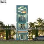 Mẫu thiết kế nhà ống 4 tầng 5x20m đẹp mê hồn tại Đà Nẵng NP4T003