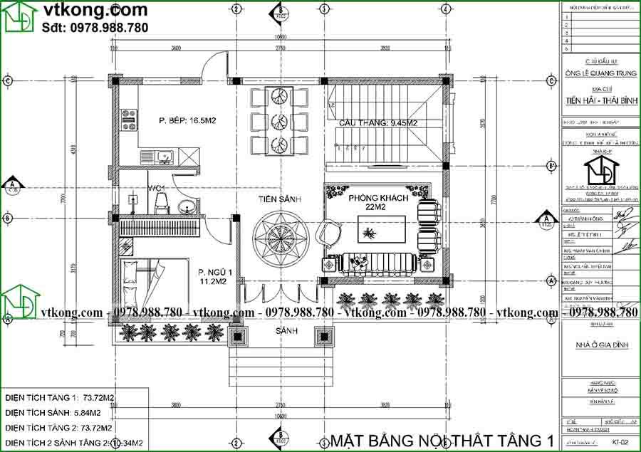 Mẫu biệt thự 2 tầng 2 mặt tiền đẹp 10x8m có sân vườn đẹp BT2T73 2