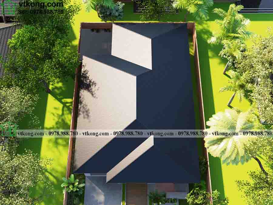 Nhà cấp 4 mái tôn 12x20m đẹp giá rẻ ở nông thôn NC4136 3