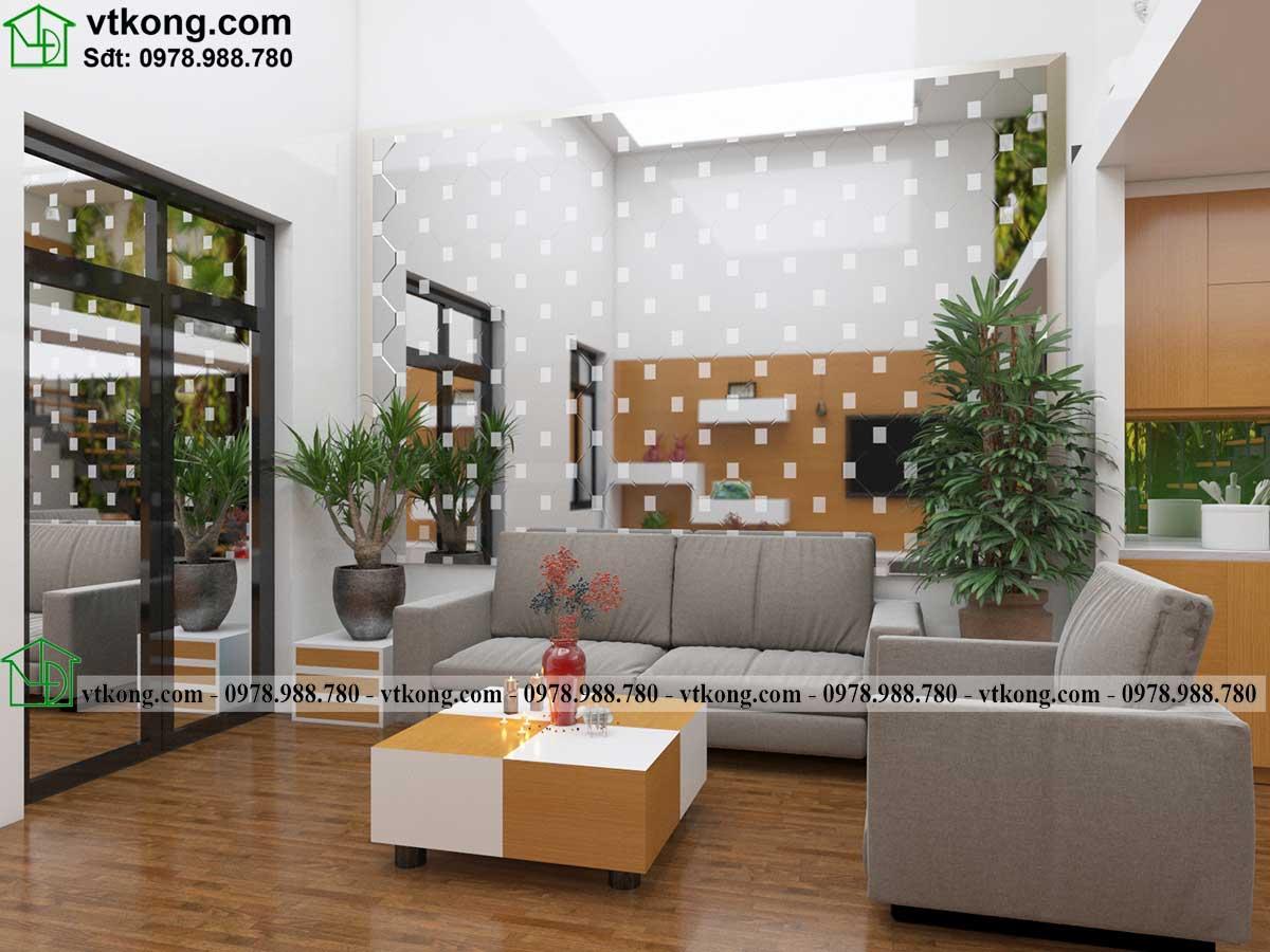 Thiết kế nội thất nhà cấp 4 gác lửng đẹp nc445