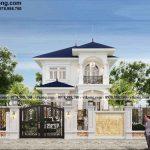 Biệt thự 2 tầng tân cổ điển mái nhật 9x17m đẹp quyến rũ tại Thái Bình BT2T79