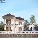 Mẫu biệt thự 2 tầng chữ L cổ điển 10x13m tại Thái Bình BT2T81