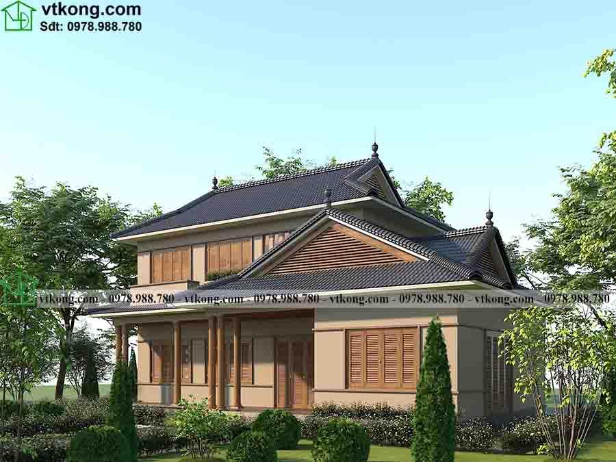 Mẫu Biệt Thự 2 Tầng Kiểu Nhật 16x10m Gây Bão Tại Long An Bt2t77