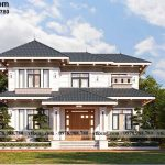 Mẫu biệt thự 2 tầng mái nhật 14x10m sang trọng tại Vĩnh Phúc BT2T80