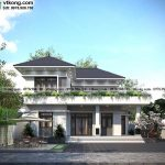 Mẫu thiết kế biệt thự 2 tầng mái nhật 14x11m hoành tráng tại Thanh Hóa BT2T83