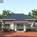 Mẫu nhà 1 tầng mái nhật 4 phòng ngủ 11x10m tại Hải Dương BT1T83