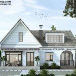 Nhà cấp 4 mái thái 11x11m phong cách Châu Âu cổ kính tại Quảng Ninh NC4144