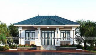 Mẫu Nhà Vuông 1 Tầng 2 Phòng Ngủ 10x9m Hot Nhất Hiện Nay Bt1t80