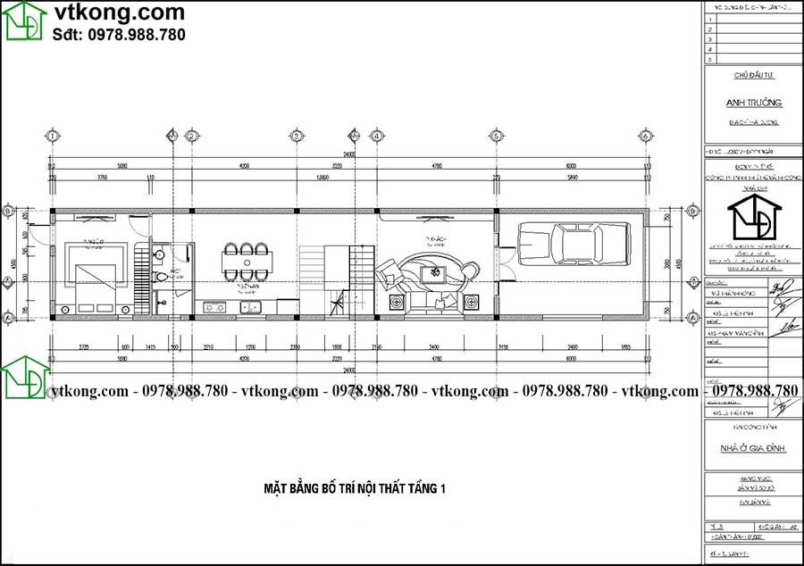 Thiết Kế Nhà ống 2 Tầng Hiện đại Diện Tích 4.5x