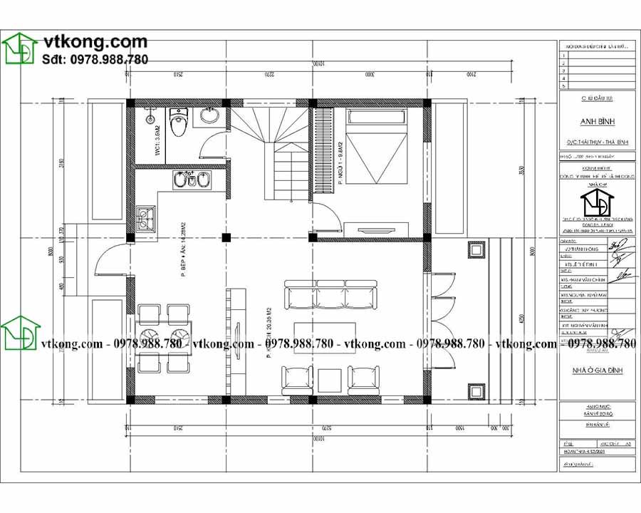 Mẫu Biệt Thự 2 Tầng Mái Nhật 8x8m Giá Rẻ Tại Hà Nam Bt2t78