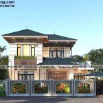 Biệt thự 2 tầng mái nhật 4 phòng ngủ 13x10m hoành tráng tại Hà Nội BT2T85