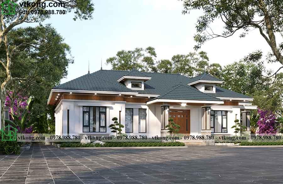 Mẫu Nhà 1 Tầng 4 Phòng Ngủ 20x14m Siêu đẹp Tại Phú Thọ Bt1t84