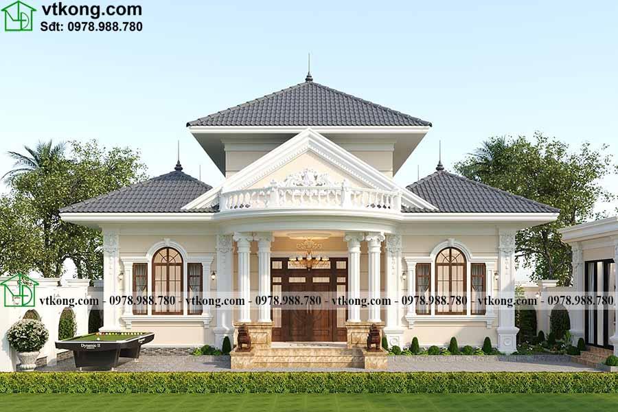 Mẫu Nhà 1 Tầng Tân Cổ điển 14x10m Cuốn Hút Tại Hà Nội Bt1t86