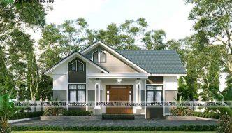 Mẫu Nhà Cấp 4 Mái Thái 3 Phòng Ngủ 12x10m Tại Nam Định Nc4150
