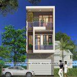 Mẫu nhà phố 3 tầng 4.5x15m kết hợp phòng khám nha khoa tại Thái Bình NP3T034