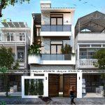 Nhà phố 3 tầng mái bằng 5.5x19.5m ấn tượng tại Hưng Yên NP3T035